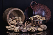 Wooden Bowl Photos - Nuts by Tom Mc Nemar
