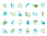 Electric Plug Prints - Nuture Icon Set Print by Eastnine Inc.
