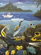 Scuba Paintings - Nutz bout Diving by Charles Vaughn