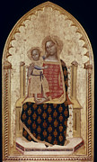 Enthroned Prints - Nuzi: Madonna And Child Print by Granger