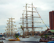 Inner Harbor Photos - NVe Cisne Branco and ARM Cuauhtemoc by Mark Dodd