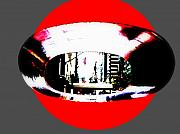Nyc Digital Art Posters - NY 57th Street Fisheye Poster by Funkpix Photo  Hunter