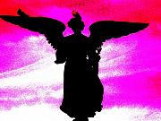 Angel Greeting Cards - NY Angel by Daniele Smith