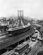 Brooklyn Bridge Prints - Ny: Brooklyn Bridge, 1898 Print by Granger