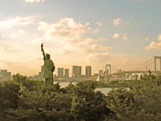 Statue Of Liberty Metal Prints - Ny In Odaiba Metal Print by Bun Buku