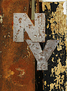 Peeling Paint Mixed Media - NY Industrial Wall Art by Anahi DeCanio