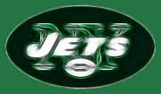 Green And White Framed Prints - NY JETS fantasy Framed Print by Paul Ward