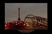 Memorial Illumination Framed Prints - NY Monument and Cannon 92 Framed Print by Judi Quelland