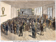 American City Prints - Ny Stock Exchange, 1878 Print by Granger