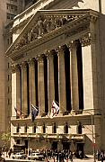 Stock Exchange Framed Prints - NY Stock Exchange Framed Print by Gerard Fritz