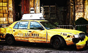 Ny Taxi Cab Print by Paul and Fe Photography Messenger