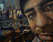 Edgy Paintings - NY Tony by Jami Childers