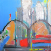 Brooklyn Bridge Painting Originals - Ny2011 by David Abse