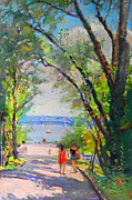 Ylli Haruni Prints - Nyack Park a Beautiful Day for a Walk Print by Ylli Haruni