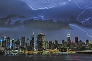 Lightning Prints - NYC All Charged Up Print by Susan Candelario