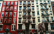 Nyc Fire Escapes Framed Prints - NYC Apartment Color 16 Framed Print by Scott Kelley