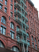 New York City Fire Escapes Photos - NYC Architecture 1 by Randi Shenkman