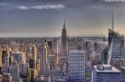 Nyc Digital Art Metal Prints - NYC at Dusk Metal Print by Robert Ponzoni