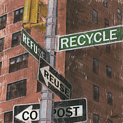 Signs Paintings - NYC Broadway 1 by Debbie DeWitt