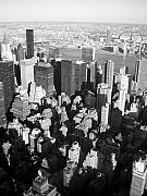 Skylines Art - NYC bw by Anita Burgermeister