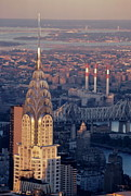 World Cities Posters - NYC Cityscape showing the Chrysler Building Poster by Sami Sarkis