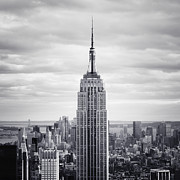 Empire State Framed Prints - NYC Empire Framed Print by Nina Papiorek
