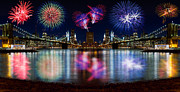 New Year Posters - NYC From Both Universes Poster by Val Black Russian Tourchin