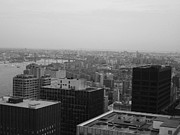 New York City Framed Prints - NYC from the Top 2 Framed Print by Irina  March