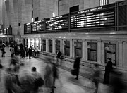 Skyline Framed Prints - NYC Grand Central Station Framed Print by Nina Papiorek