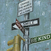 Signs Paintings - NYC Inspiration 1 by Debbie DeWitt
