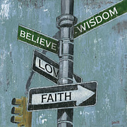 Signs Paintings - NYC Inspiration 2 by Debbie DeWitt