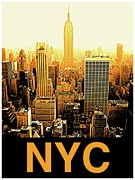 Nyc Mixed Media - NYC is gold by Marvin Blatt