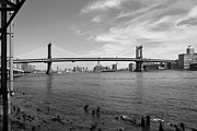 East River Framed Prints - NYC Manhattan Bridge Framed Print by Mike McGlothlen