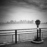 New York City Landscape Posters - NYC Manhattan View Poster by Nina Papiorek