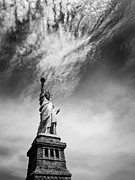 Downtown Metal Prints - NYC Miss Liberty Metal Print by Nina Papiorek