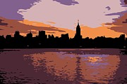 New York City Skyline Digital Art Framed Prints - NYC Morning Color 6 Framed Print by Scott Kelley