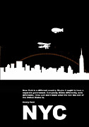 Manhattan Digital Art - NYC Night Poster by Irina  March