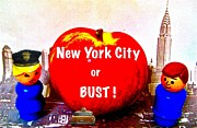 Manhattan Digital Art Originals - NYC or BUST by Ricky Sencion