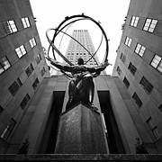 Black Top Acrylic Prints - NYC Rockefellar Center Acrylic Print by Nina Papiorek
