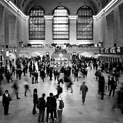 Bw Framed Prints - NYC Rush Hour Framed Print by Nina Papiorek
