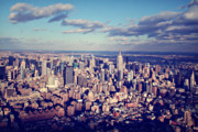 Landscapes Metal Prints - NYC Sky View Metal Print by Ariane Moshayedi