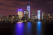Hudson River Photos - NYC Skyline and the Freedom Tower by Vicki Jauron