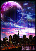 New York City Skyline Digital Art Framed Prints - NYC Skyline Framed Print by Joe Emiola