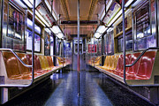 Nyc Digital Art Metal Prints - NYC Subway Metal Print by Kelley King