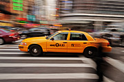 Nyc Taxi Framed Prints - NYC Taxi Framed Print by Benjamin Matthijs