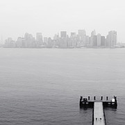 Manhattan Prints - NYC View from Liberty Island Print by Nina Papiorek