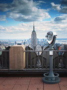 Empire State Building Framed Prints - NYC Viewpoint Framed Print by Nina Papiorek
