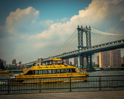 Water Taxi Framed Prints - NYC water taxi Framed Print by Ken Marsh