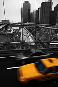 Colorkey Prints - NYC Yellow Cab Print by Hannes Cmarits