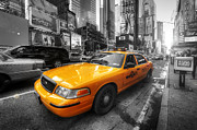 Cab Framed Prints - NYC Yellow Cab Framed Print by Yhun Suarez